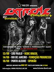 POSTER EXTREME TOUR BRASIL