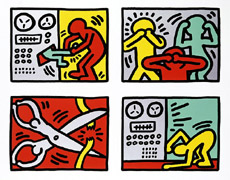 Keith Haring_Pop Shop Quad III 1989_Sikscreen_27 x 33 in_ cr