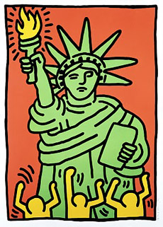 Keith Haring_Statue of Liberty_1986_Silkscreen_37.5 x 28.25