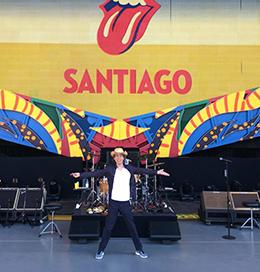 MICK JAGGER PASSANDO O SOM EM SANTIAGO - FOTO: ROLING STONES