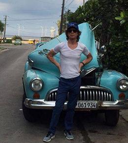 MICK JAGGER EM CUBA - FOTO: TWITTER DO MICK JAGGER