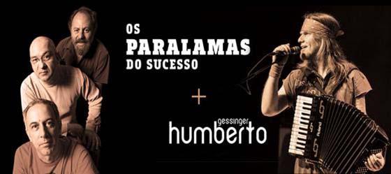 OS PARALAMAS DO SUCESSO E HUMBERTO GESSINGER - FOTO: DIVULGAÇÃO