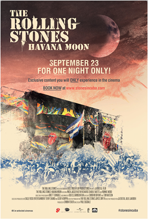 "POSTER ""HAVANA MOON - THE ROLLING STONES LIVE IN CUBA"""