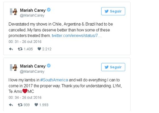 TWITTER MARIAH CAREY - REPRODUÇÃO