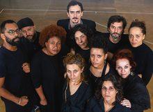 ELENCO DA PEÇA TERROR E MISÉRIA NO TERCEIRO MILÊNIO - IMPROVISANDO UTOPIAS - FOTO BY SERGIO SILVA