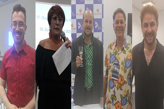 ANDRÉ MANTOVANNI, MÁRCIA FERNANDES, CARLINHOS VIDENTE, NEI NAIFF E DANIEL ATALLA NA MYSTIC FAIR 2019 - FOTO BY REVISTA ELETRICIDADE (VALÉRIA MARAVIGLIA)