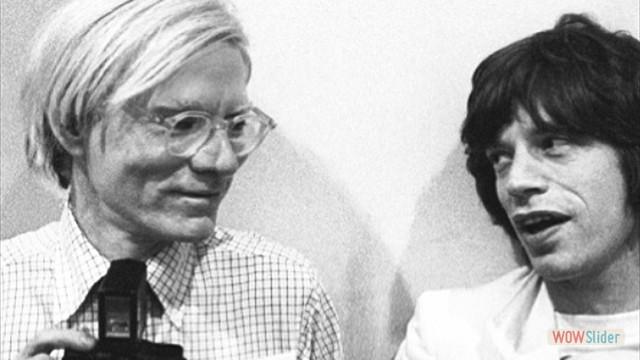 Na década de 70, com o artista plástico Andy Warhol