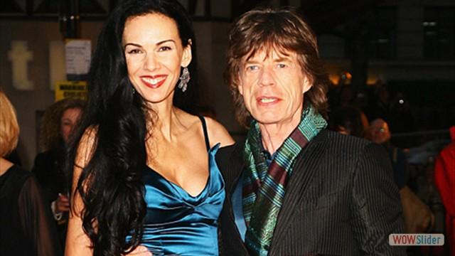 Com a namorada L'Wren Scott. O relacionamento dos dois foi de 2001 a 2014, quando L'Wren suicidou-se