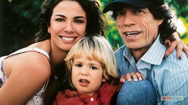 Com Lucas, fruto de seu relacionamento com a apresentadora Luciana Gimenez
